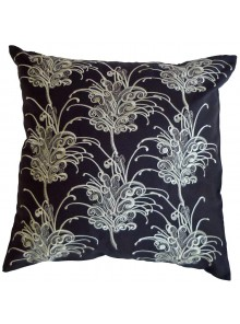 Cushion Cover- Embroidered Grevillea Flower Grey