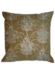 Cushion Cover- Embroidered Grevillea Flower Beige