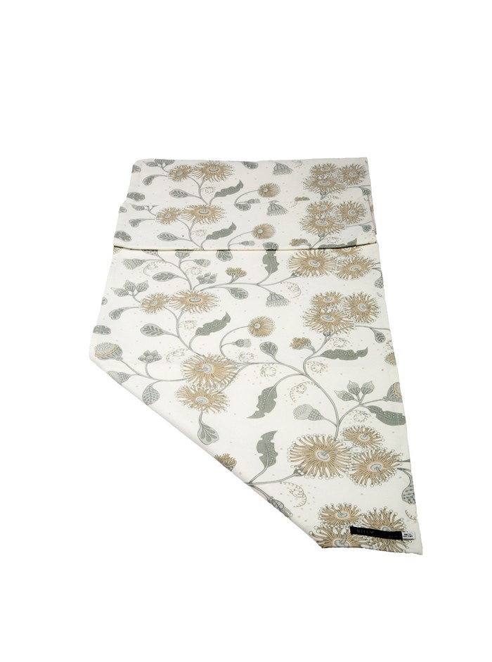 Table Runner Beige and Grays - two sizes 40cm x250cm
