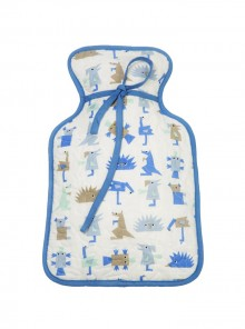 Hot Water Bottle Cover Blue