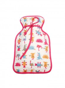 Hot Water Bottle Cover Drk Pink