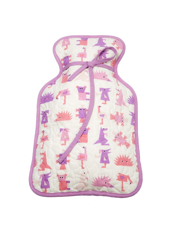 Hot Water Bottle Cover Light Pink