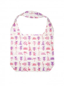 Foldaway Bag Multi Coloured Pinks and Purples