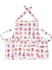 Infants Apron Multi Coloured Pinks and Purples