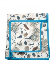 Summer Quilt, Lounge Throw – Blue and Beige