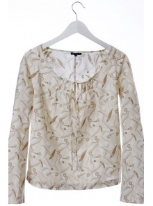 Tie Front Shirt Gum Leaf Cream