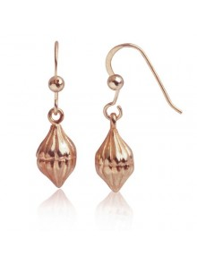 Eucalyptus Bud Earring Sterling Silver Rose Gold Plated