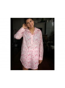 Long Shirt Gum Leaf Pink