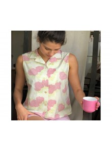 Sleeveless Shirt Boxy Waratah Pink