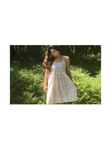 Tuck Sundress Gum Leaf Cream