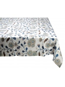 Table Cloth Blue and Cream